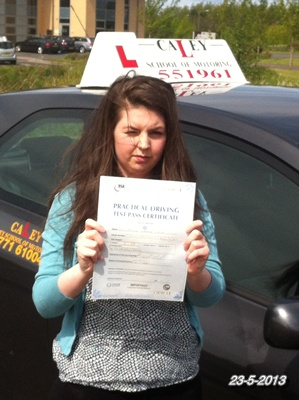 NATALIE TAYLOR-KILWINNING 23rd may 2013-1st TIME PASS